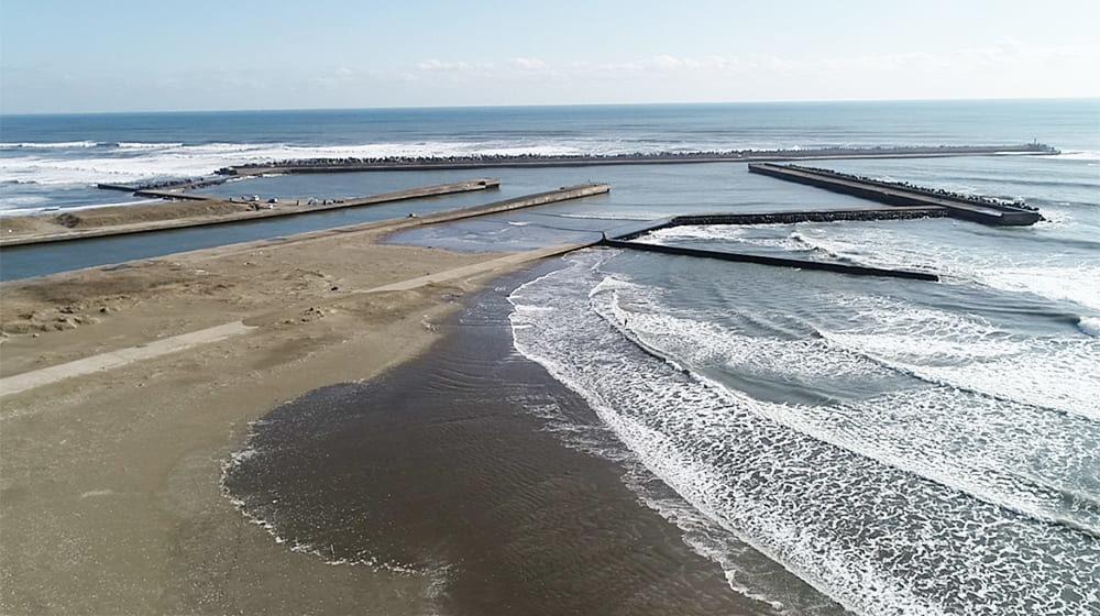 片貝海岸 片貝漁港サーフポイント