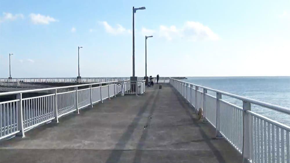 飯岡漁港 親水防波堤