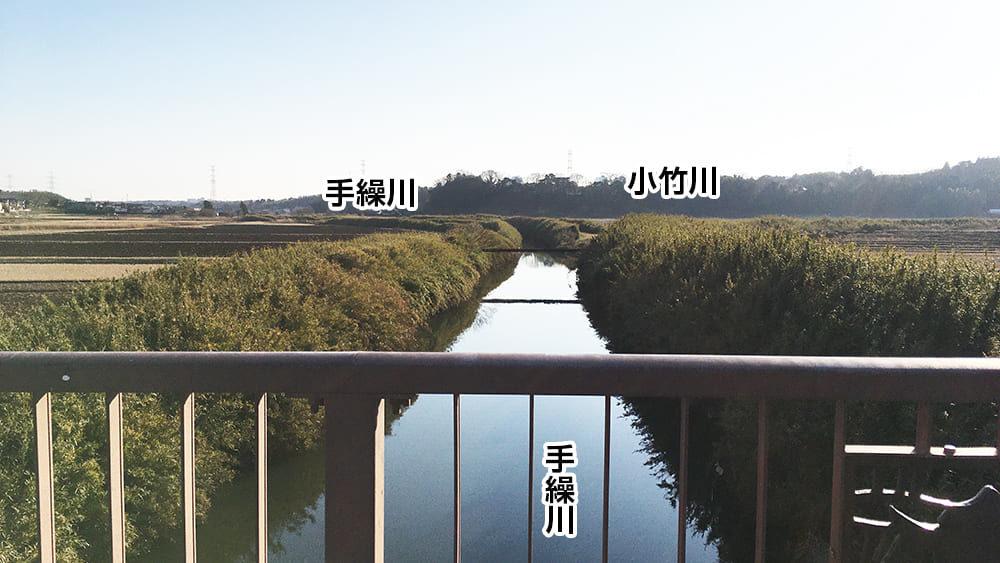 印旛沼 手繰川と小竹川