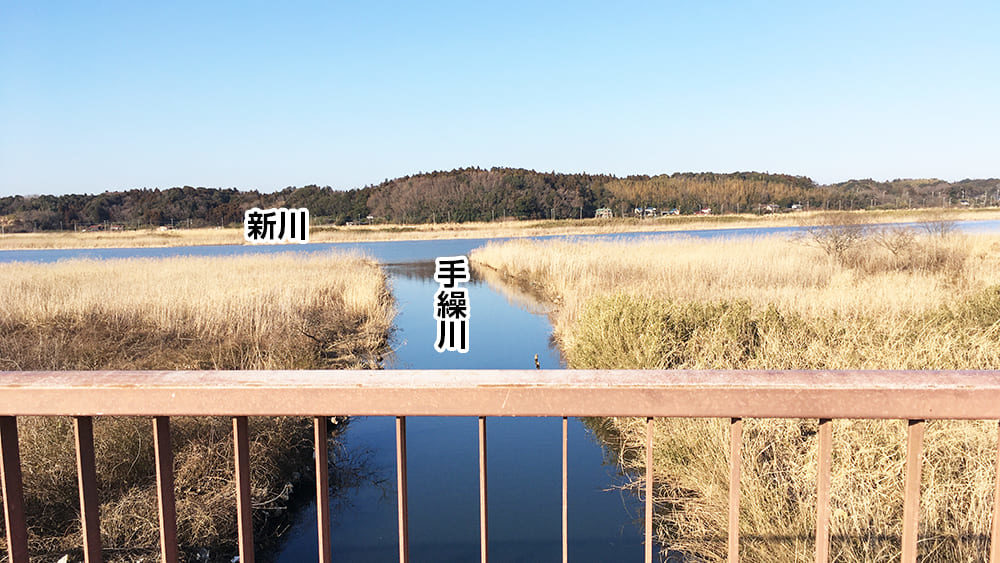 印旛沼 新川と手繰川